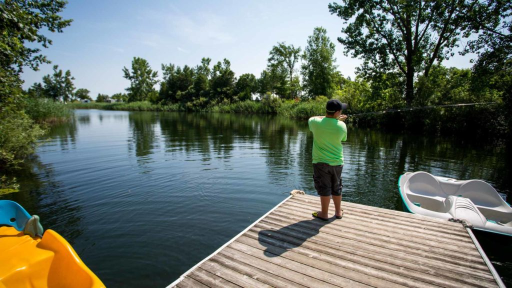 Woodland Lake RV Resort Fishing Bornholm, Ontario