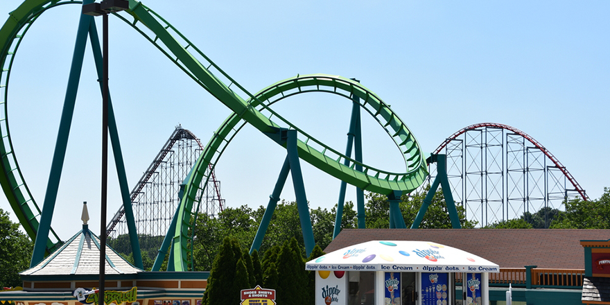 dorney park amusement park hydra the revenge roller coaster