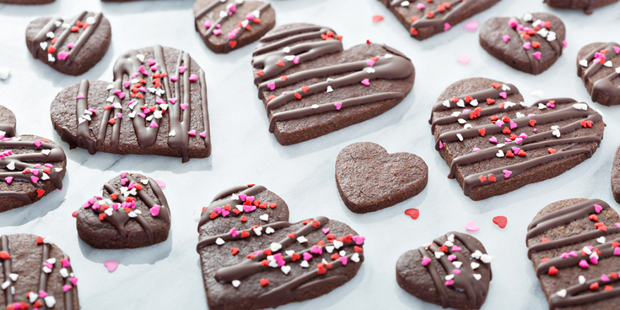 valentine's day chocolate cookies