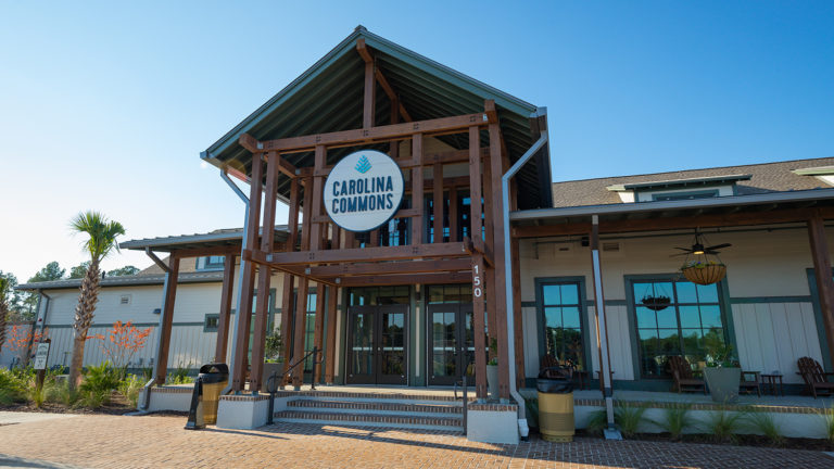 Carolina Pines RV Resort Commons Exterior Entrance in Conway, SC