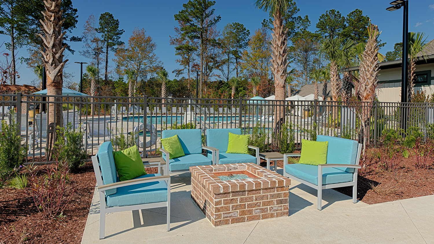 Carolina Pines RV Resort Public Gas Firepit in Conway, SC